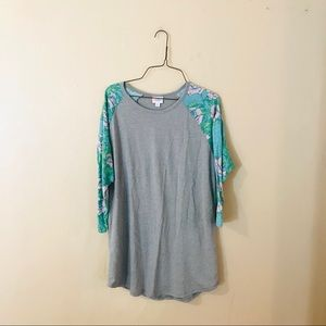 LuLaRoe Floral Sleeved Randy Tee